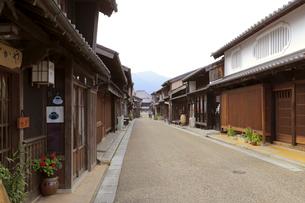 旧東海道関宿の町並みの写真素材 [FYI01790500]