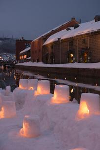 2015小樽雪あかりの路の写真素材 [FYI01790506]