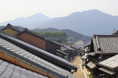 旧東海道関宿の町並みの写真素材 [FYI01790523]