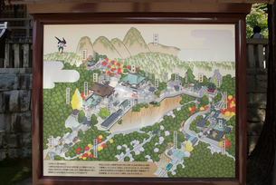 85番 八栗寺案内図の写真素材 [FYI01790557]