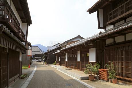 旧東海道関宿の町並みの写真素材 [FYI01790564]