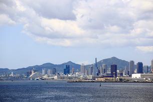 六甲大橋から見る神戸市街の写真素材 [FYI01790588]