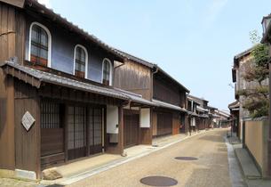旧東海道関宿の町並みの写真素材 [FYI01790619]