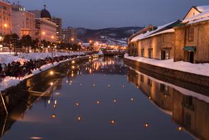 2015小樽雪あかりの路の写真素材 [FYI01790680]