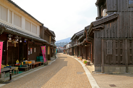 旧東海道関宿の町並みの写真素材 [FYI01790751]