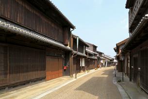 旧東海道関宿の町並みの写真素材 [FYI01790804]