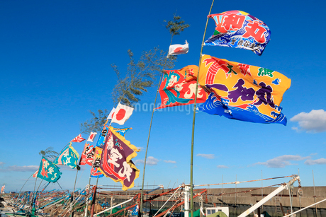 大漁旗の写真素材 [FYI01790826]