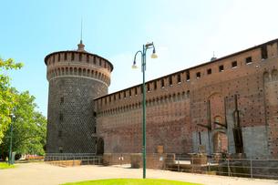 スフォルツァ城の写真素材 [FYI01790915]