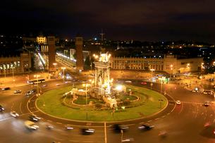 夜のスペイン広場の写真素材 [FYI01790945]