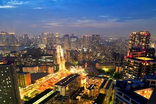 東京の夕景の写真素材 [FYI01791076]