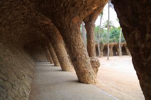 グエル公園の回廊の写真素材 [FYI01791140]