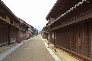旧東海道関宿の町並みの写真素材 [FYI01791192]