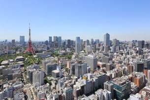 世界貿易センタービルから見る都心の街並の写真素材 [FYI01791269]