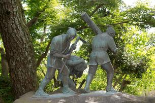 薩摩義士の像の写真素材 [FYI01791486]