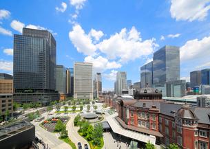 東京駅丸の内駅前広場の写真素材 [FYI01791597]