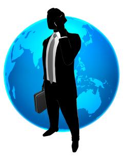 シルエット人物のビジネスイメージと世界のイラスト素材 [FYI01791601]