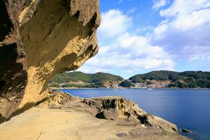 世界遺産 鬼ケ城の写真素材 [FYI01791603]