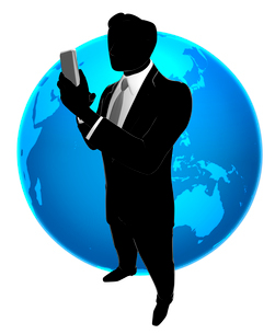 シルエット人物のビジネスイメージと世界のイラスト素材 [FYI01791626]