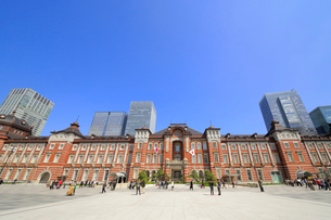 東京駅赤レンガ駅舎の写真素材 [FYI01791677]