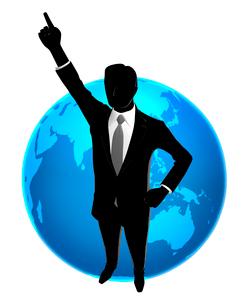 シルエット人物のビジネスイメージと世界のイラスト素材 [FYI01791854]