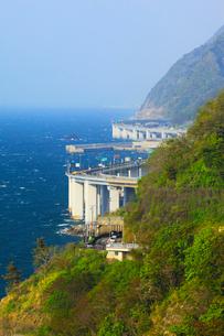 親不知海岸の断崖と日本海の写真素材 [FYI01792339]