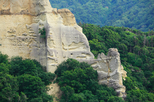 知床 観光船から望む断崖の写真素材 [FYI01792519]