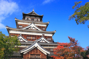 広島城の天守閣の写真素材 [FYI01792603]