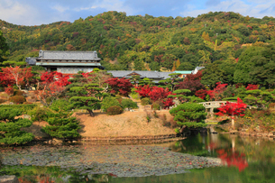 毛利氏庭園の紅葉の写真素材 [FYI01792872]