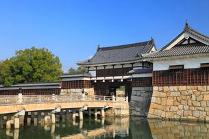 広島城 表御門と御門橋の写真素材 [FYI01792873]