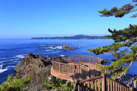 碁石海岸 展望台と海の写真素材 [FYI01792936]