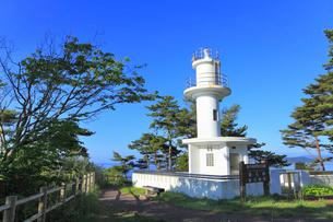 碁石海岸の灯台の写真素材 [FYI01793083]