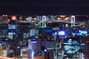 東京都内・お台場方面の夜景の写真素材 [FYI01793155]