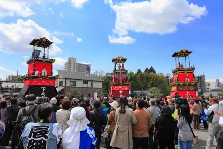 岩倉桜祭りの山車の写真素材 [FYI01793201]