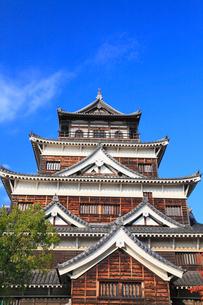 広島城の天守閣の写真素材 [FYI01793487]