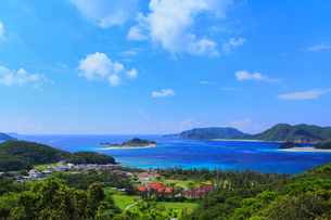 慶良間諸島,座間味島からの展望,嘉比島と阿真ビーチ,の写真素材 [FYI01793518]