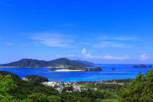 慶良間諸島,座間味島からの展望,嘉比島と阿真ビーチ,の写真素材 [FYI01793562]