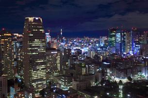 東京都内・上野浅草方面の夜景の写真素材 [FYI01793699]