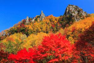 層雲峡の紅葉の写真素材 [FYI01794076]