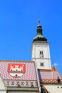 ザグレブの聖マルコ教会の写真素材 [FYI01794208]