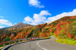磐梯吾妻スカイライン 天狗の庭の紅葉と吾妻小富士の写真素材 [FYI01794235]