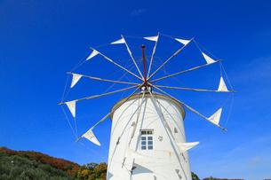 小豆島オリーブ公園のギリシャ風車の写真素材 [FYI01794313]