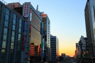 阿倍野の夕景の写真素材 [FYI01794317]