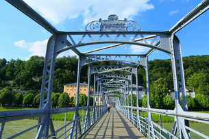 ザルツブルグのモーツァルト小橋の写真素材 [FYI01794327]