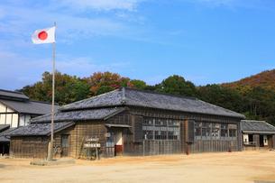 二十四の瞳映画村の木造校舎の写真素材 [FYI01794390]