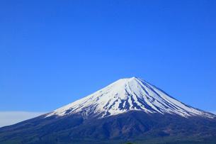 河口湖畔の大石公園から望む富士山の写真素材 [FYI01794505]