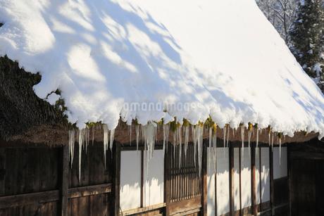雪景色の飛騨の里の写真素材 [FYI01794990]