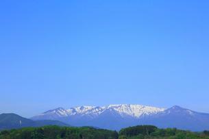 蔵王連峰と青空の写真素材 [FYI01795219]