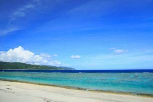 奄美大島 大浜海浜公園より望む東シナ海の写真素材 [FYI01795323]