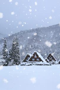 雪景色の白川郷・上町地区の写真素材 [FYI01795550]