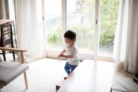 リビングでひとりで遊ぶ幼児の写真素材 [FYI01796287]